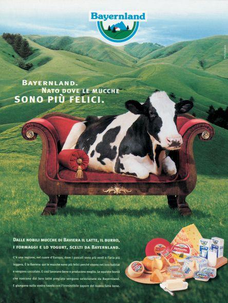 Un'altra campagna Bayernland basata sul concept della vacca felice